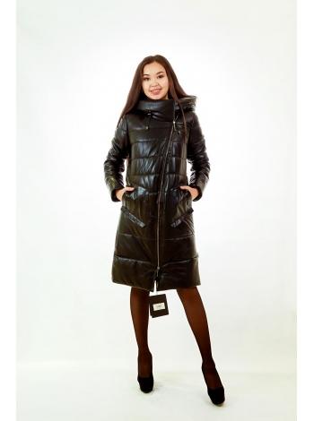 Куртка кожаная с капюшоном (28)