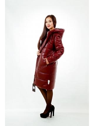 Куртка кожанная с капюшоном (red)