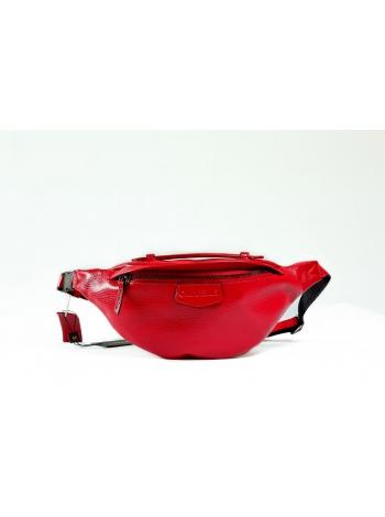 Кожаная сумка Belt Bag Style (red) by OMABELLE