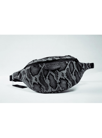 Кожаная сумка Belt Bag Style (gray python) by OMABELLE