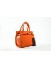 Кожаная сумка Easy style (orange) by OMABELLE