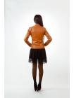 Куртка кожаная basic (carrot)