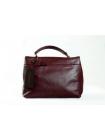 Кожаная сумка Busy Style (bordo) by OMABELLE