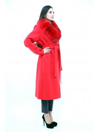 Пальто 110 см кашемировое (красный) (15454-25.12)