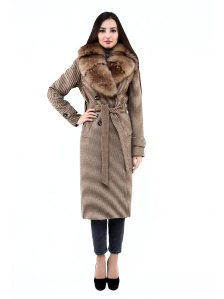 Пальто 110 см кашемировое (коричневый) (15535-25.12)