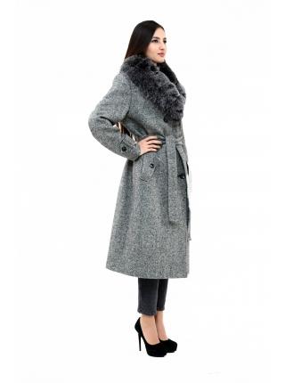Пальто 110 см кашемировое (темно-серый) (15454-25.12)