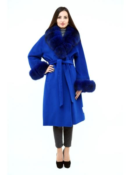 Пальто 110 см кашемировое (синий) (15383-25.12)