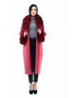 Пальто 110 см кашемировое (вишнёвый) (15383-25.12)