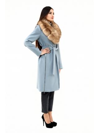 Пальто 100 см кашемировое (голубой) (11919-25.12)