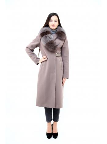 Пальто 110 см кашемировое (серый) (15537-25.12)