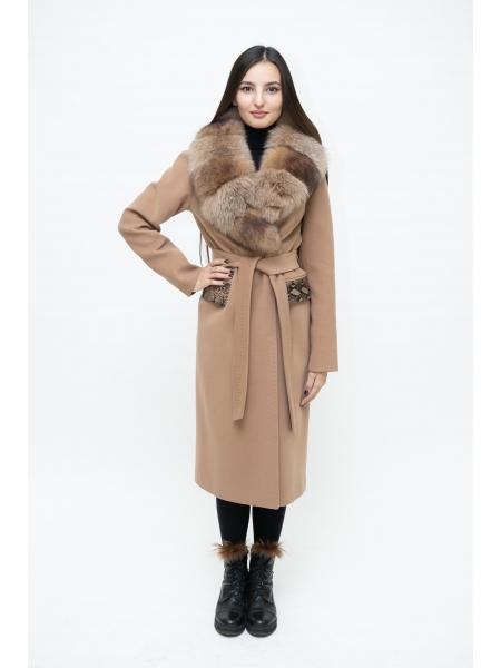 Пальто 110 см кашемировое (бежевый) (15512-25.12)