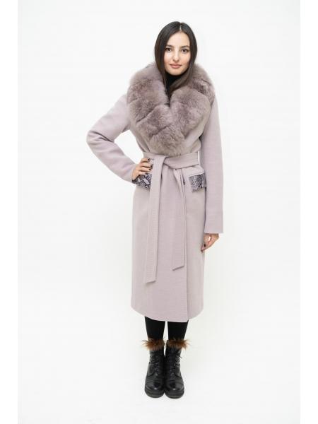Пальто 110 см кашемировое (миндальный) (15512-25.12)