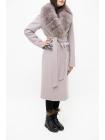 Пальто 110 см кашемировое (светло-сиреневый) (15464-25.12)