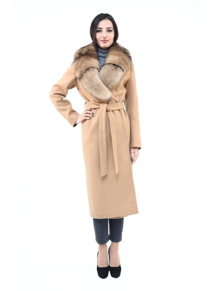 Пальто 115 см кашемировое (горчичный) (15392-25.12)