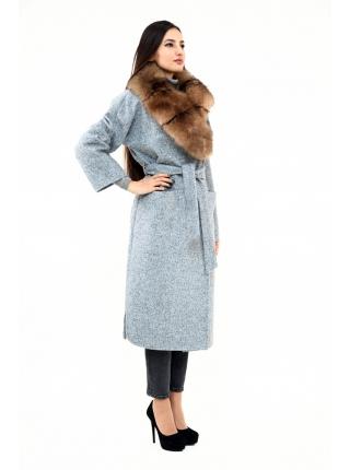 Пальто 115 см кашемировое (темно-голубой) (15455-25.12)