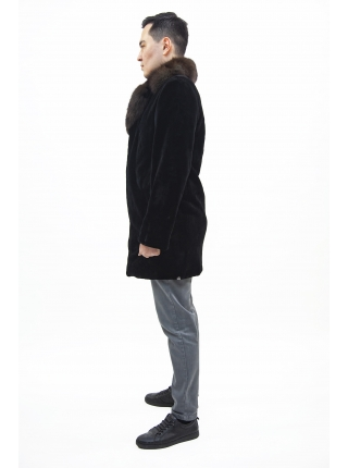 Шуба норка мужская с соболью (BLACKGLAMA) l-90, s-110 (PPQ) |CANADA|