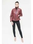 Куртка кожаная косуха basic bordo XL