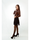 Куртка кожаная косуха casual (bordo)